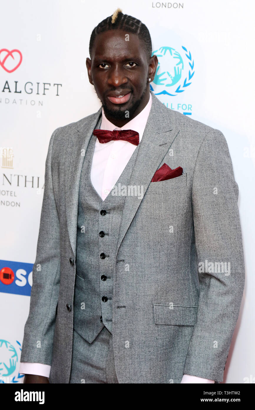Mamadou Sakho at the Football for Peace initiative dinner by Global Gift Foundation,London, UK.   8th April 2019 - Stock Image