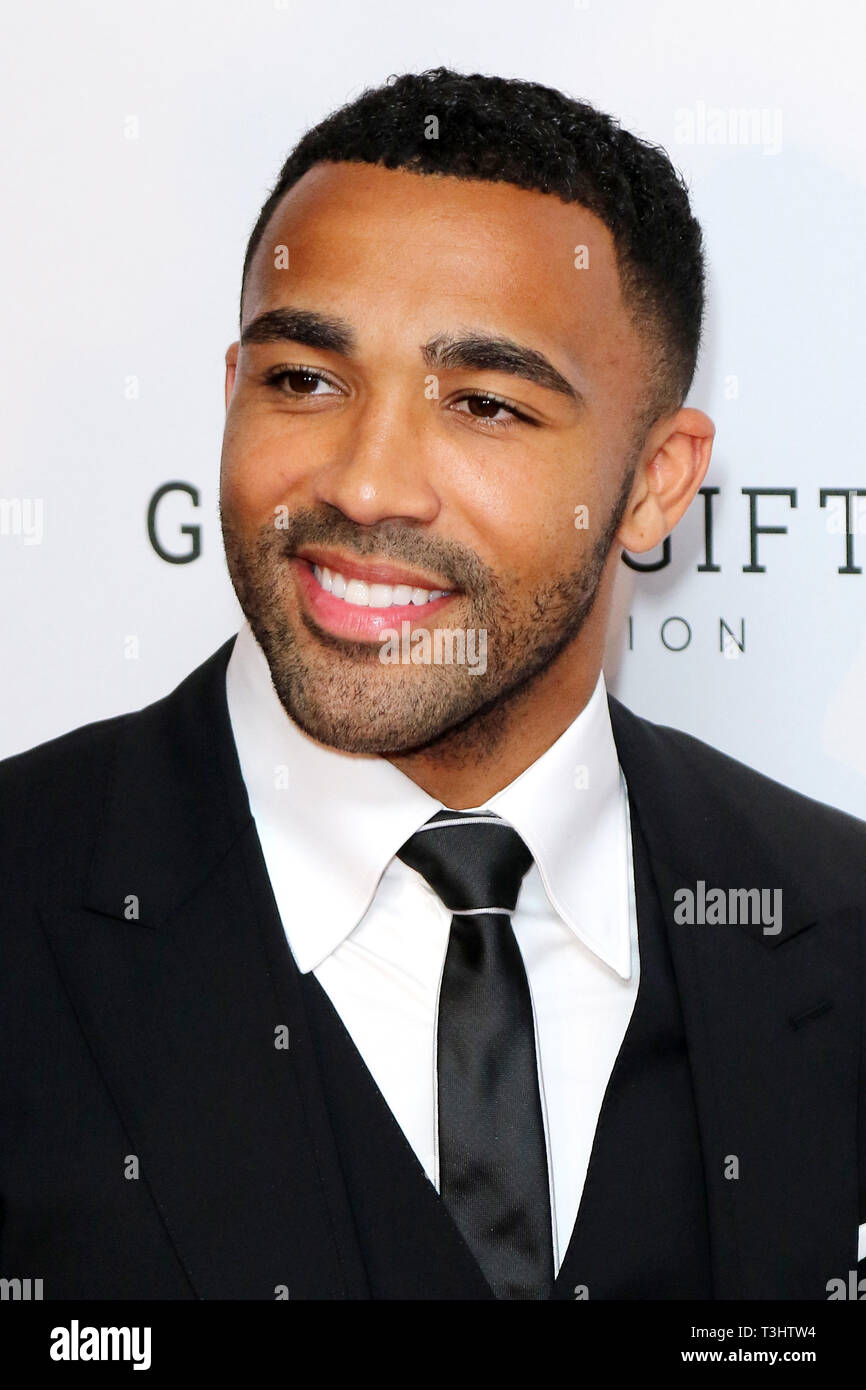 Callum Wilson at the Football for Peace initiative dinner by Global Gift Foundation,London, UK.   8th April 2019 - Stock Image