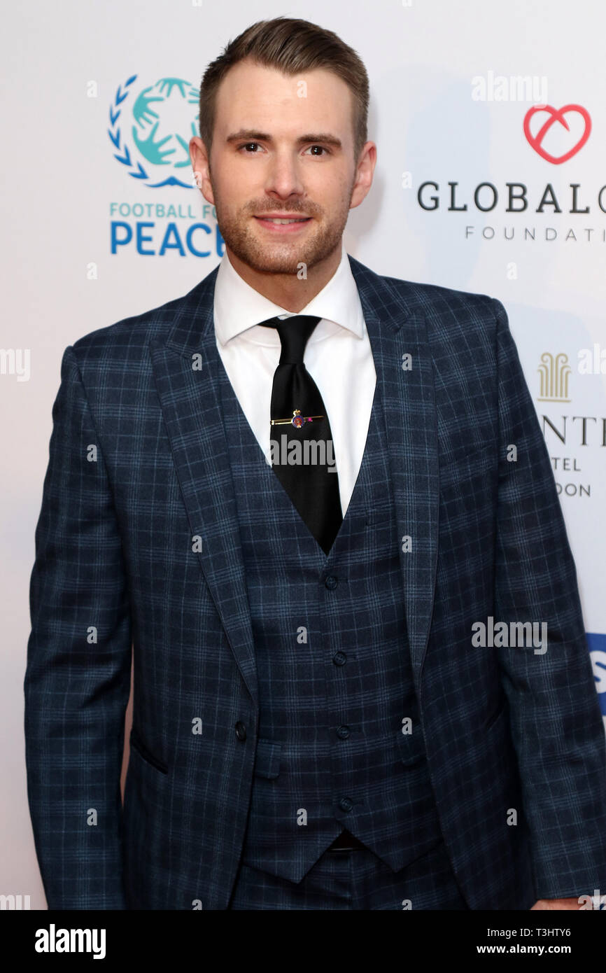 Richard Jones at the Football for Peace initiative dinner by Global Gift Foundation,London, UK.   8th April 2019 - Stock Image
