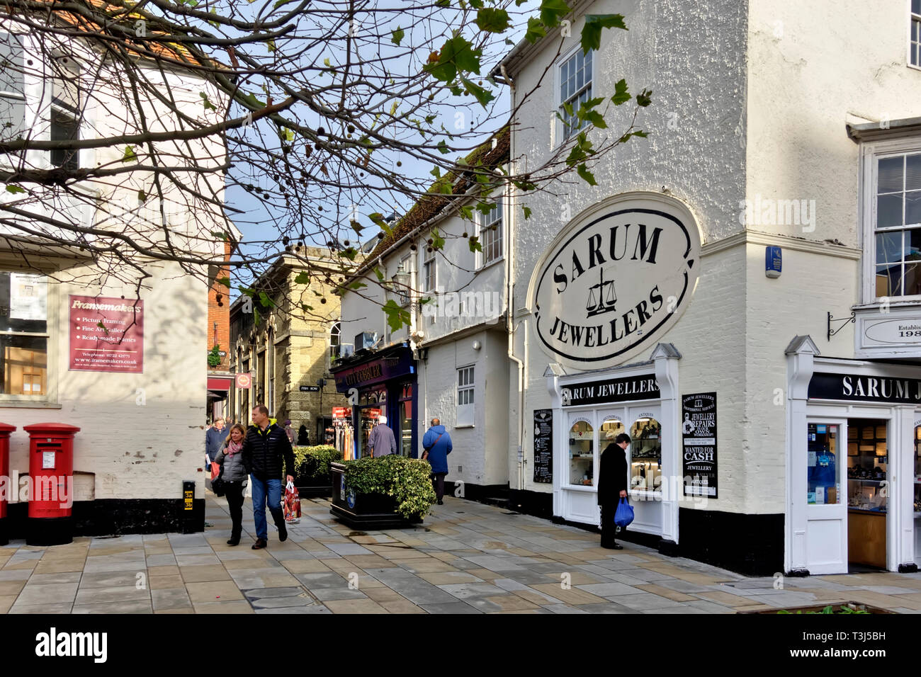 Sarum Jewellers shop in New Canal, Salisbury, Wiltshire, England UK Stock Photo