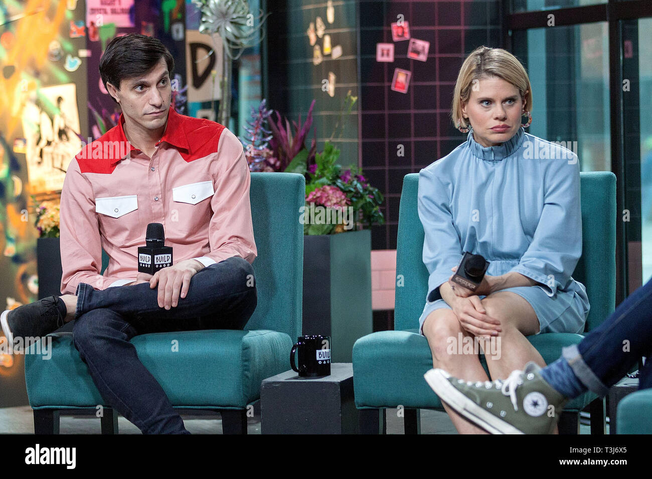 New York, USA. 09 Apr, 2019.  Gideon Glick, and, Celia Keenan-Bolger at The BUILD Series discussing ÒTo Kill a MockingbirdÓ at BUILD Studio on April 09, 2019 in New York, NY. Credit: Steve Mack/S.D. Mack Pictures/Alamy - Stock Image