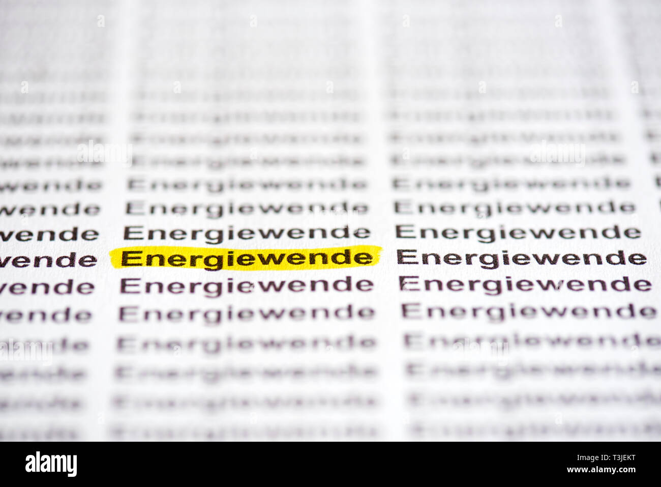 Energiewende - Stock Image
