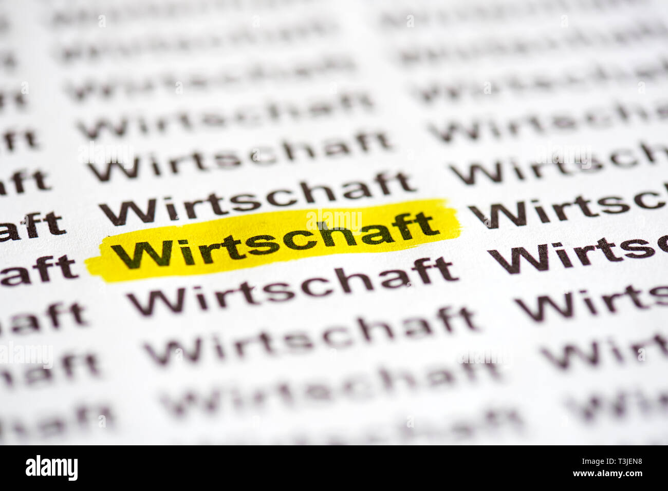 Wirtschaft Stock Photo