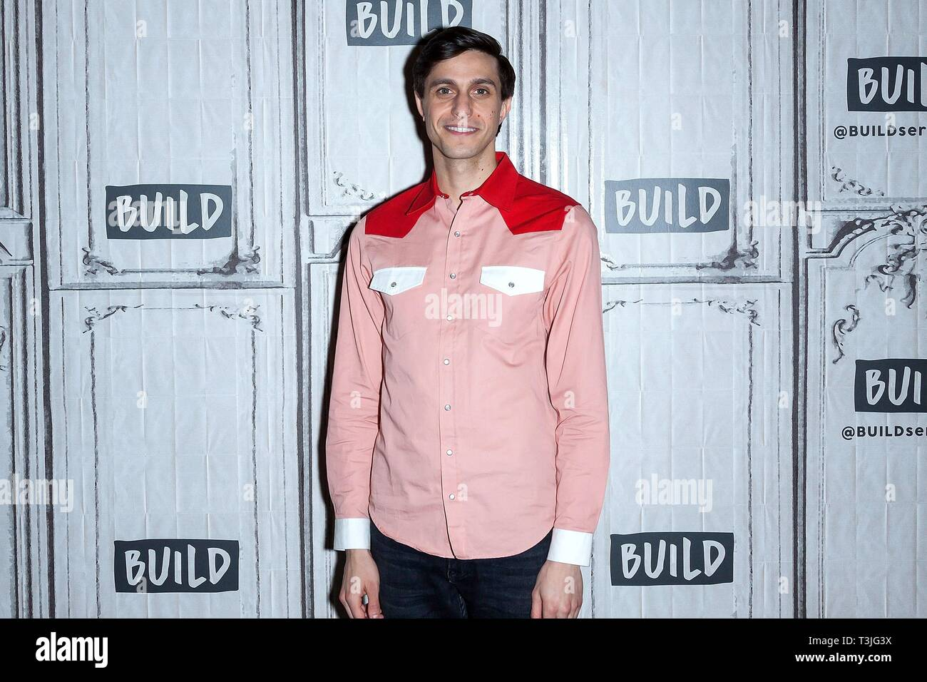 New York, NY, USA. 9th Apr, 2019. Gideon Glick inside for AOL Build Series Celebrity Candids - TUE, AOL Build Series, New York, NY April 9, 2019. Credit: Steve Mack/Everett Collection/Alamy Live News - Stock Image