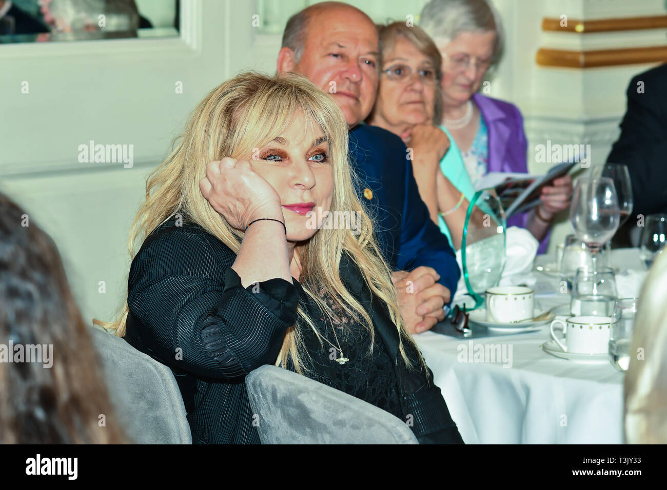 London, UK. 10th Apr, 2019. Helen Lederer attends the 7th annual Churchill Awards honour achievements of the Over 65's at Claridge's Hotel on 10 March 2019, London, UK. Credit: Picture Capital/Alamy Live News Stock Photo