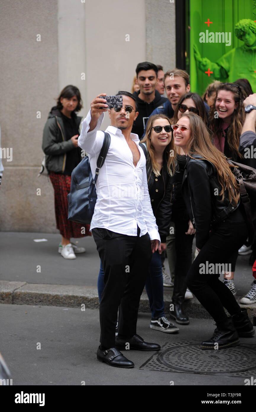 Milan, Italy  10th Apr, 2019  Milan, Nusret Gokce in the