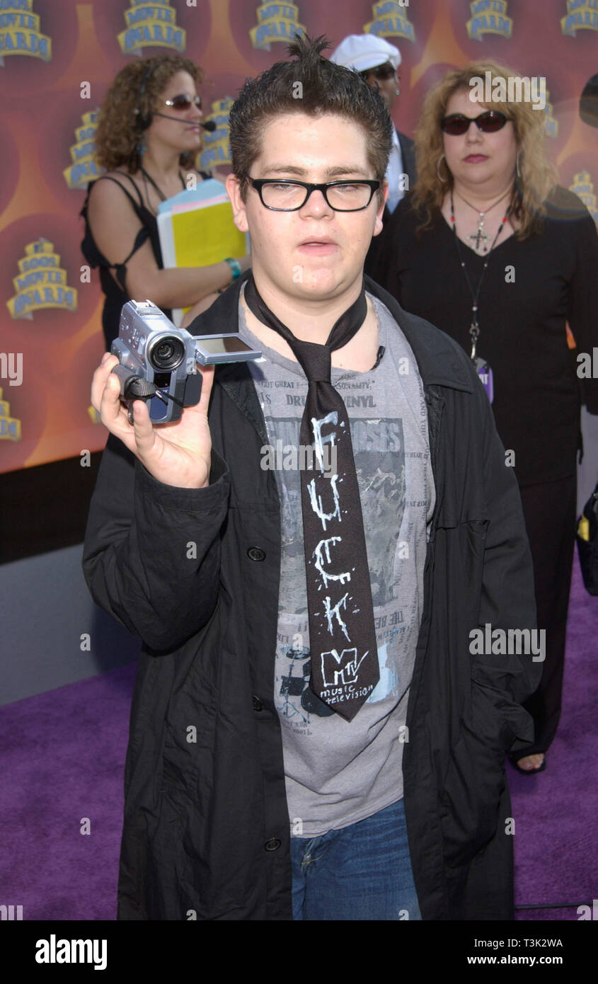 LOS ANGELES, CA. June 01, 2002: JACK OSBOURNE, son of Ozzie Osbourne, at the MTV Movie Awards in Los Angeles. © Paul Smith / Featureflash - Stock Image
