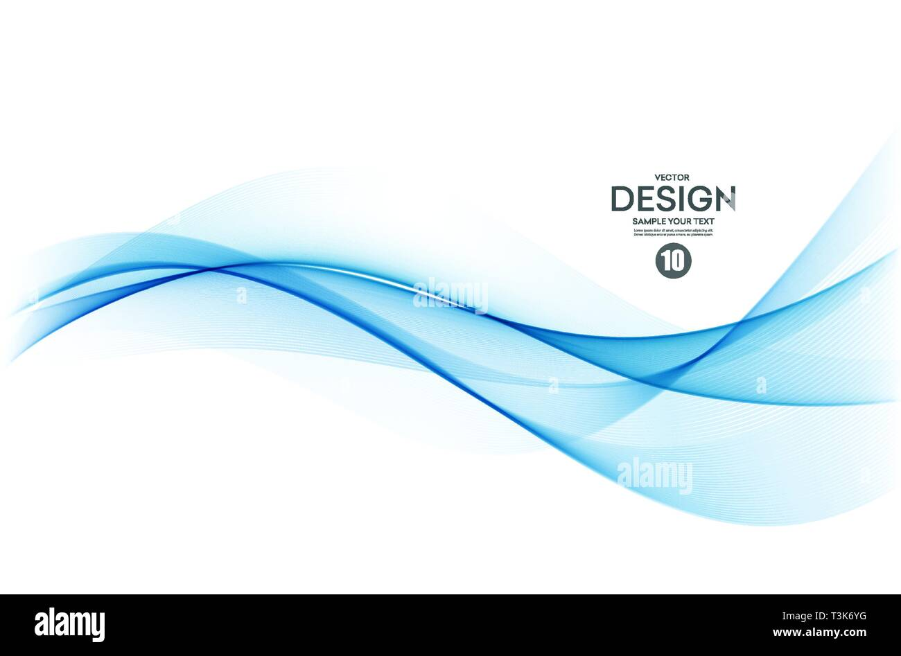 Abstract colorful vector background, color wave for design brochure, website, flyer. - Stock Vector