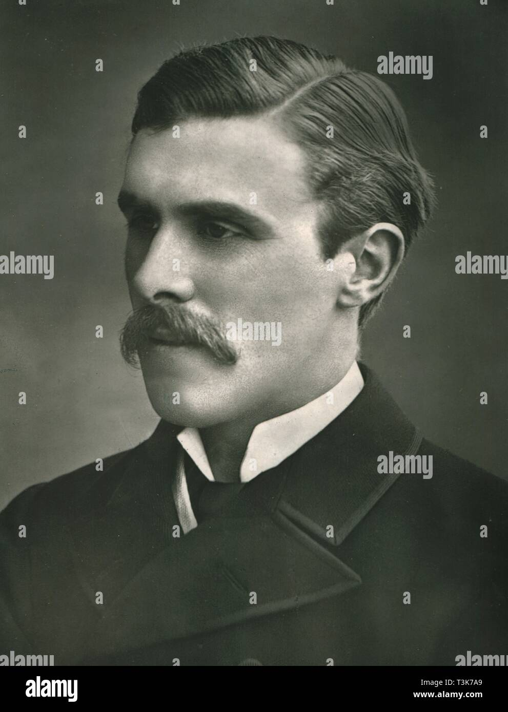 "'The Right Honorable William St.John Fremantle Brodrick', c1899. Portrait of British Conservative politician William St John Fremantle Brodrick 1st Earl of Midleton, (1856-1942). From ""Our Conservative and Unionist Statesmen"", Volume II. [Newman, Graham & Co, London, c1899] - Stock Image"