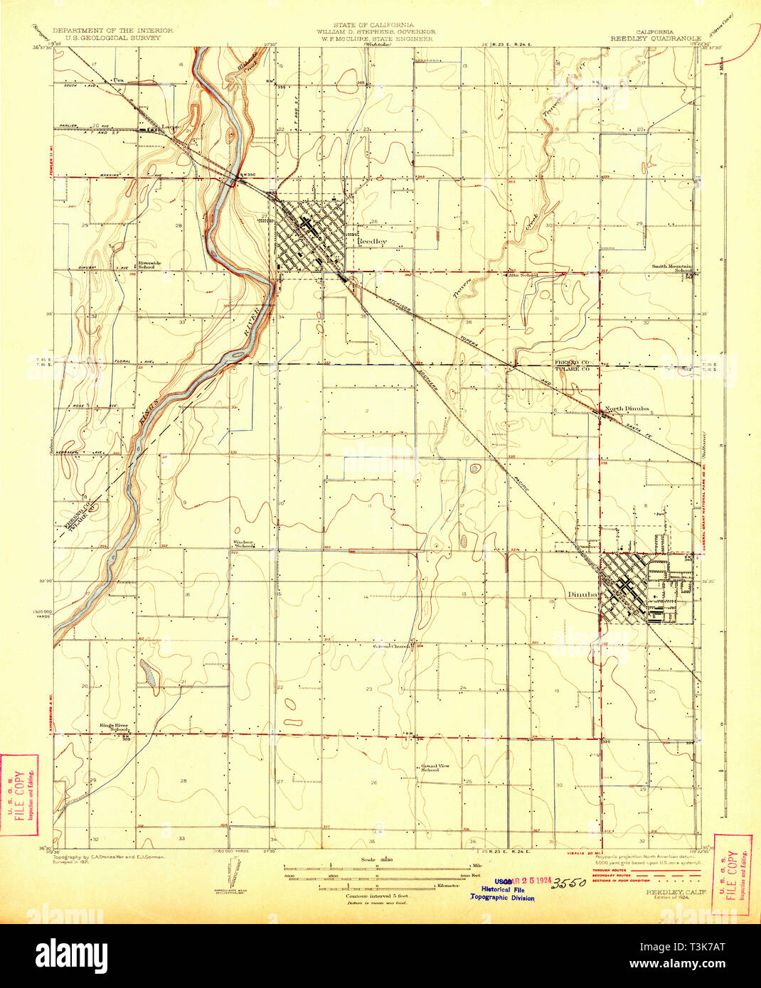1883 CA Map Reedley Rancho San Diego Santa Margarita Rocklin CALIFORNIA History