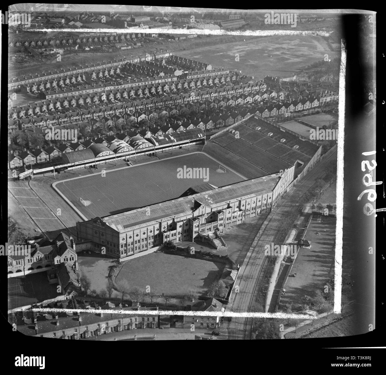 Villa Park, home to Aston Villa Football Club, Birmingham, West Midlands, 1951.  This image was marked by Aero Pictoral Ltd for photo editing. - Stock Image