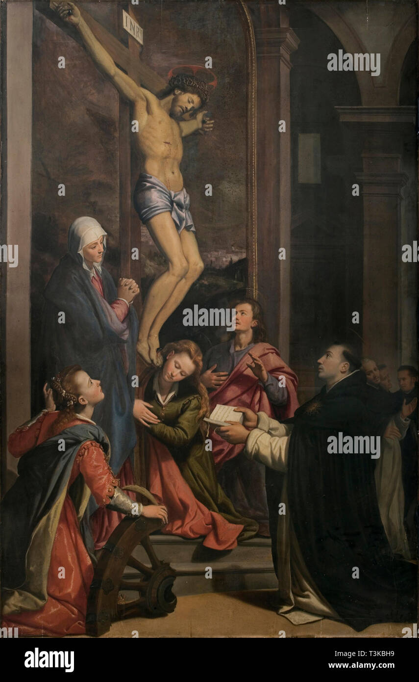 Vision of Saint Thomas Aquinas, 1593. Found in the Collection of Chiesa di San Marco, Firenze. - Stock Image