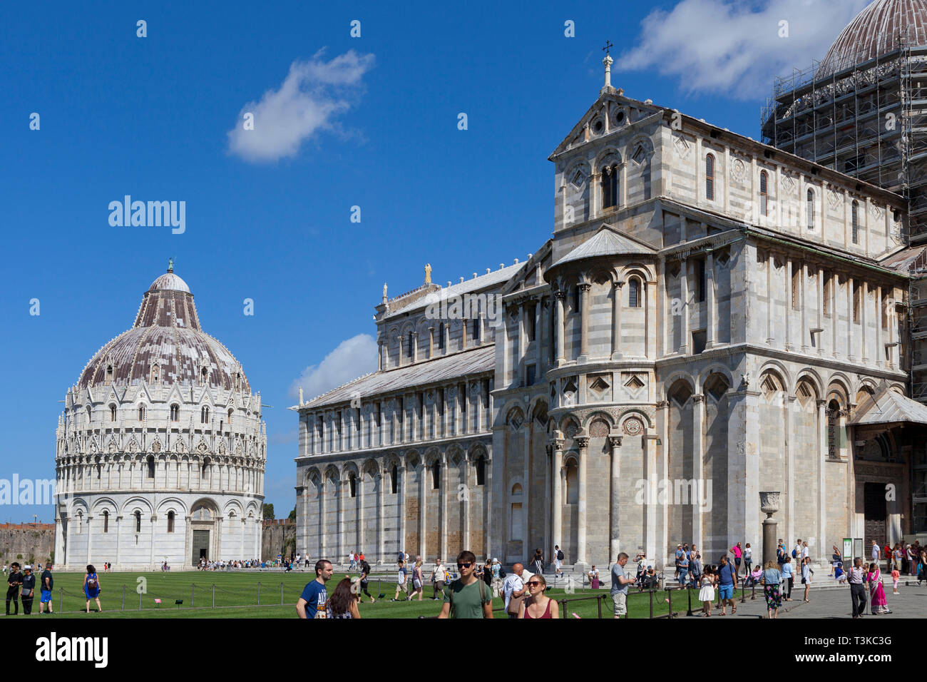 Cathedral and Baptistery, Pisa Stock Photo