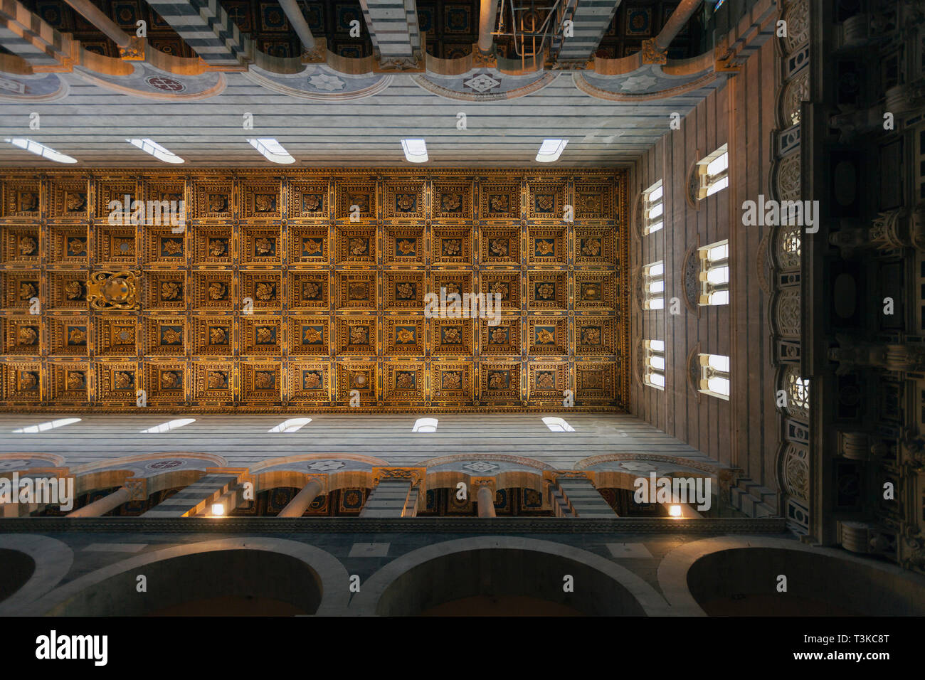 Coffered ceiling, Pisa Cathedral Stock Photo