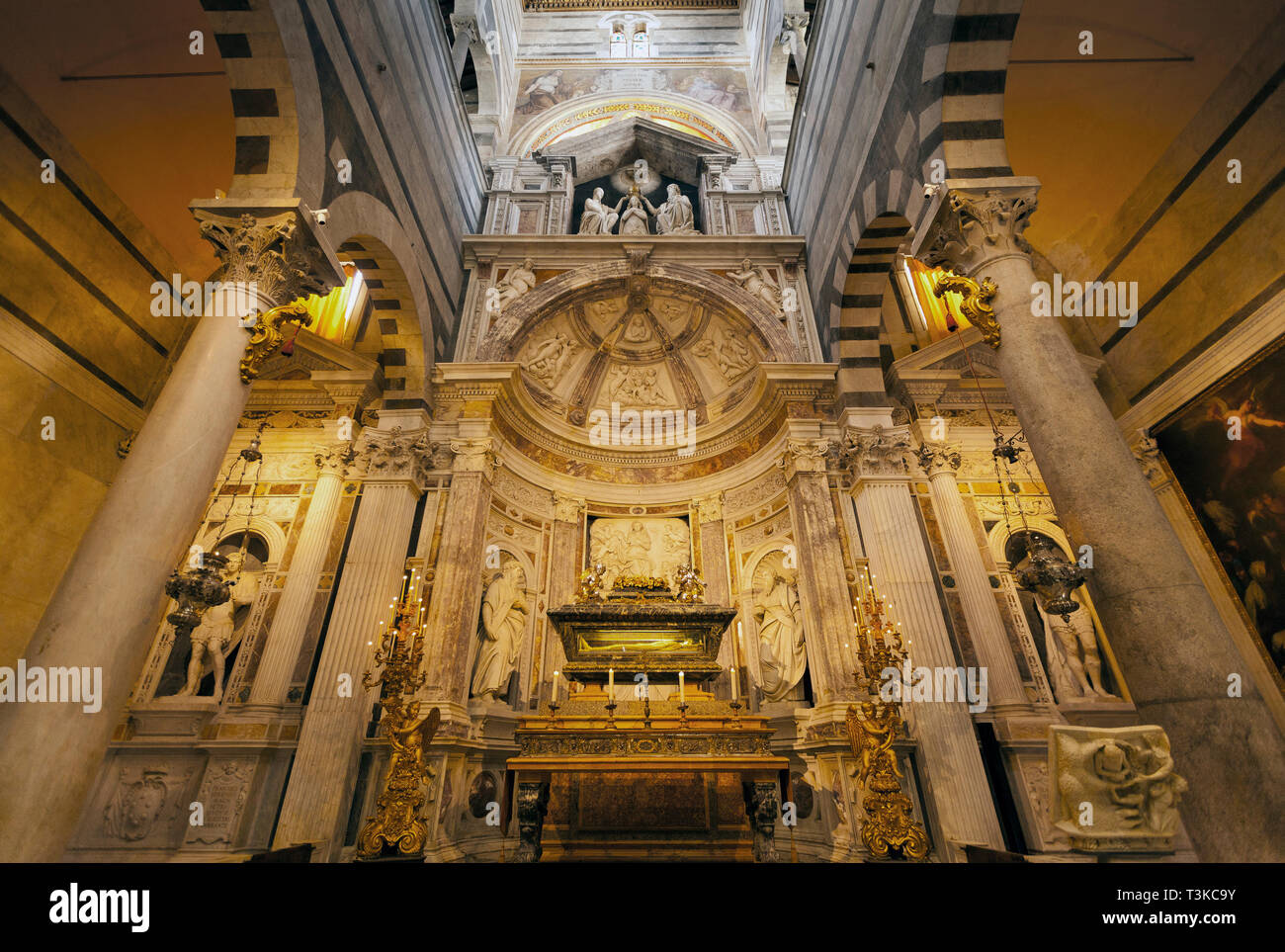 Altar of St. Rainerius, Pisa Cathedral Stock Photo