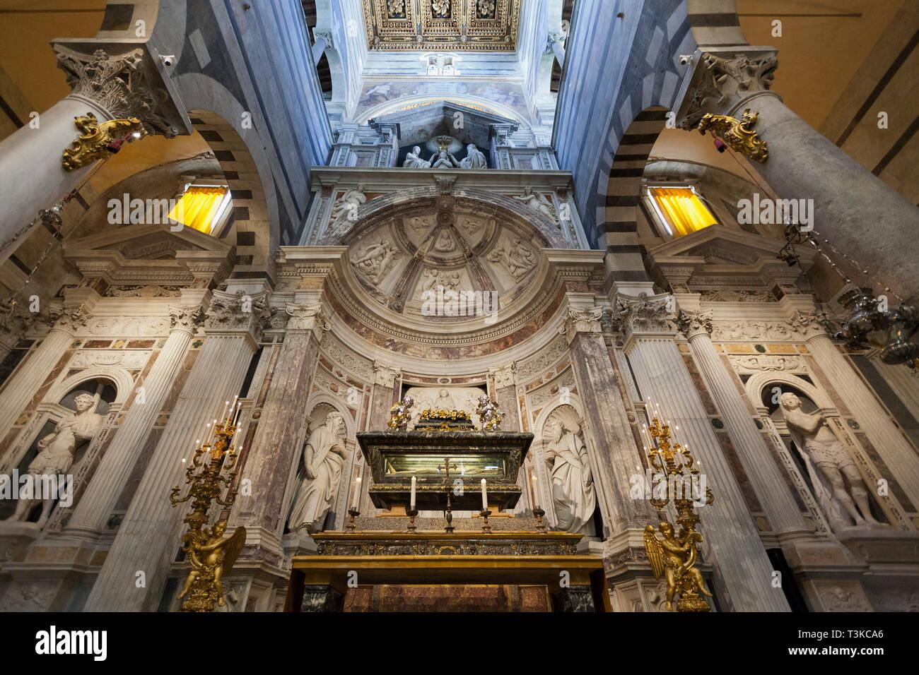 Altar of St. Rainerius, Pisa Cathedral Stock Photo