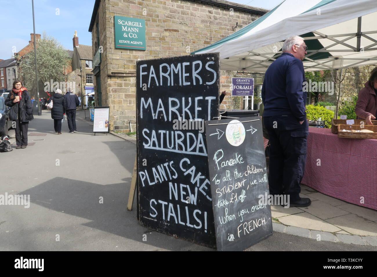 Wirksworth Farmer's Market, Debyshire - Stock Image