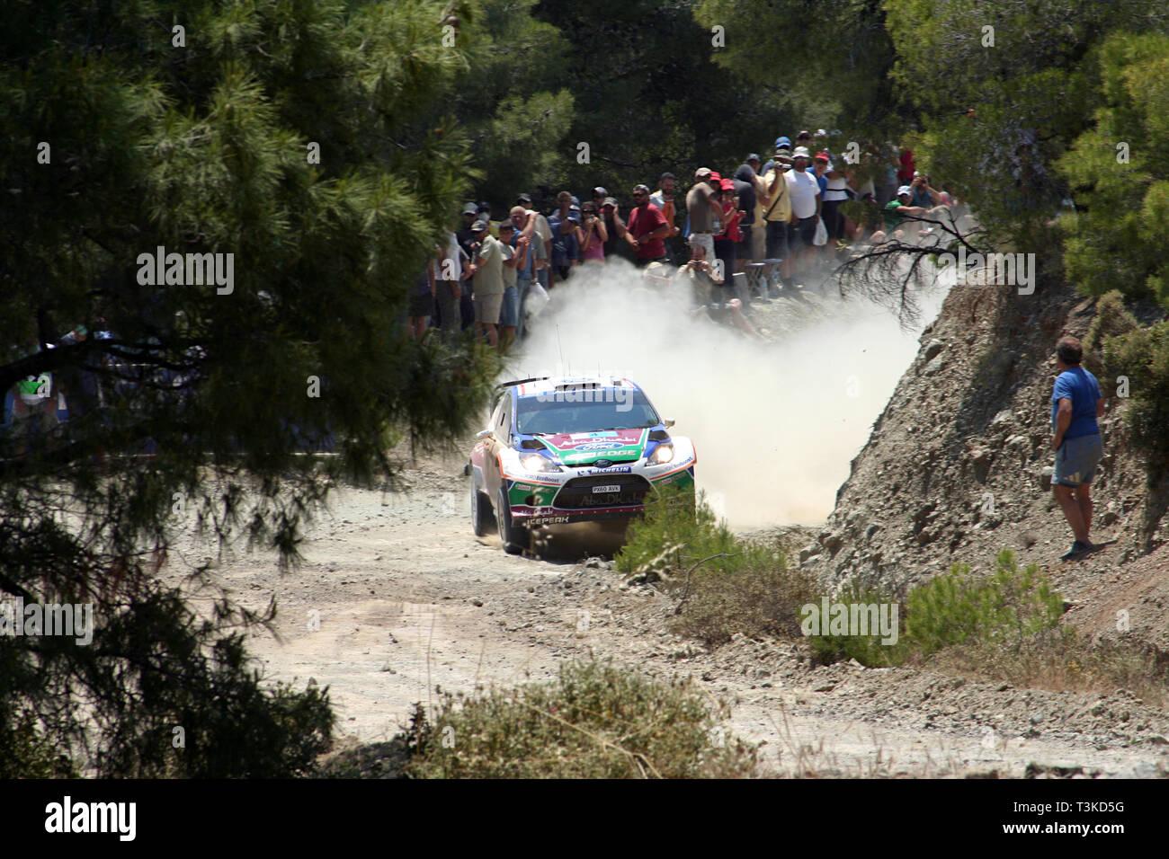 2011 Acropolis Rally, Special Stage 16 (Aghii Theodori 2). Jari-Matti Latvala - Miikka Anttila, Ford Fiesta RS WRC (finished 9th) - Stock Image