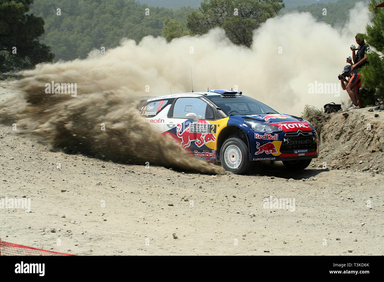 2011 Acropolis Rally, Special Stage 16 (Aghii Theodori 2). Sébastien Ogier - Julien Ingrassia, Citroën DS3 WRC (finished 1st) - Stock Image