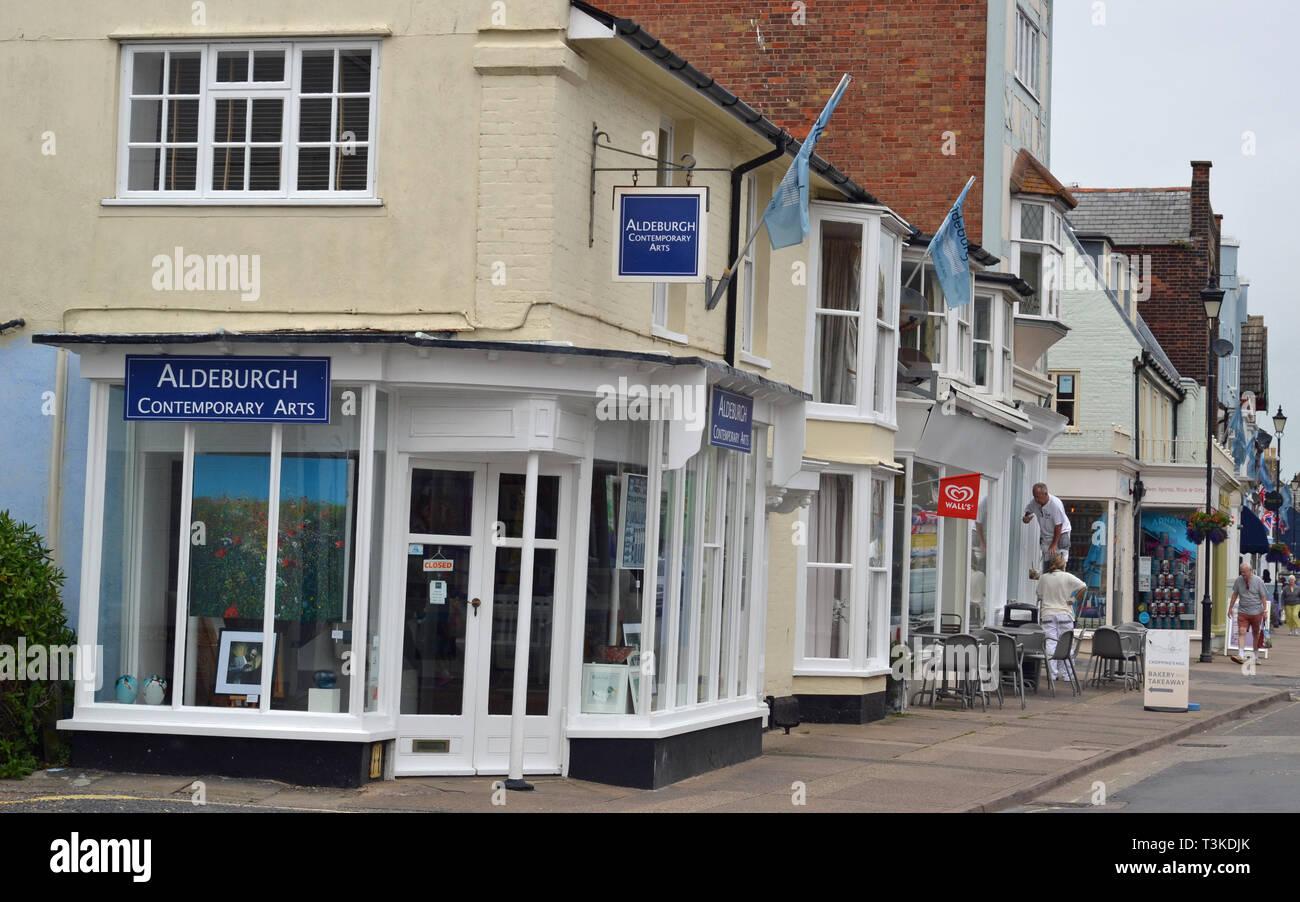 Aldeburgh Contemporary Arts, High Street, Aldeburgh, Suffolk, UK - Stock Image