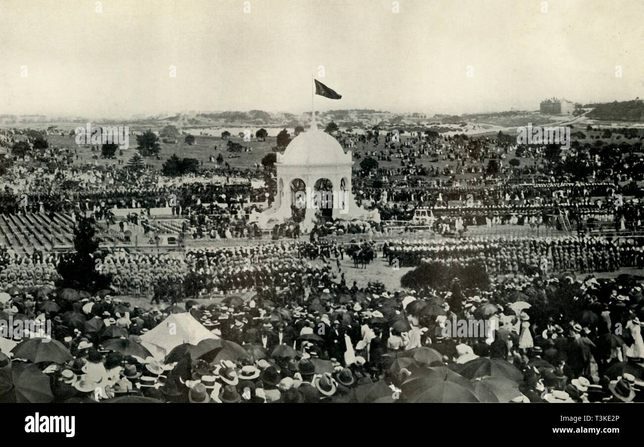 'The Proclamation of the Commonwealth of Australia at Sydney on January 1st, 1901', c1930. Creator: Unknown. - Stock Image