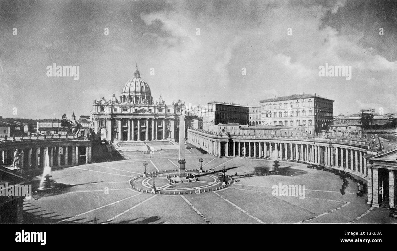 'A Great Church of the Renaissance: St. Peter's, Rome...', c1930.  Creator: Anderson. - Stock Image