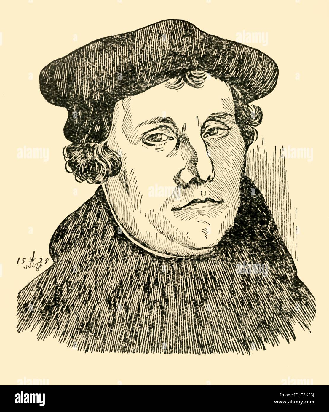 Martin Luther, 1529, (c1930). Creator: Unknown. - Stock Image