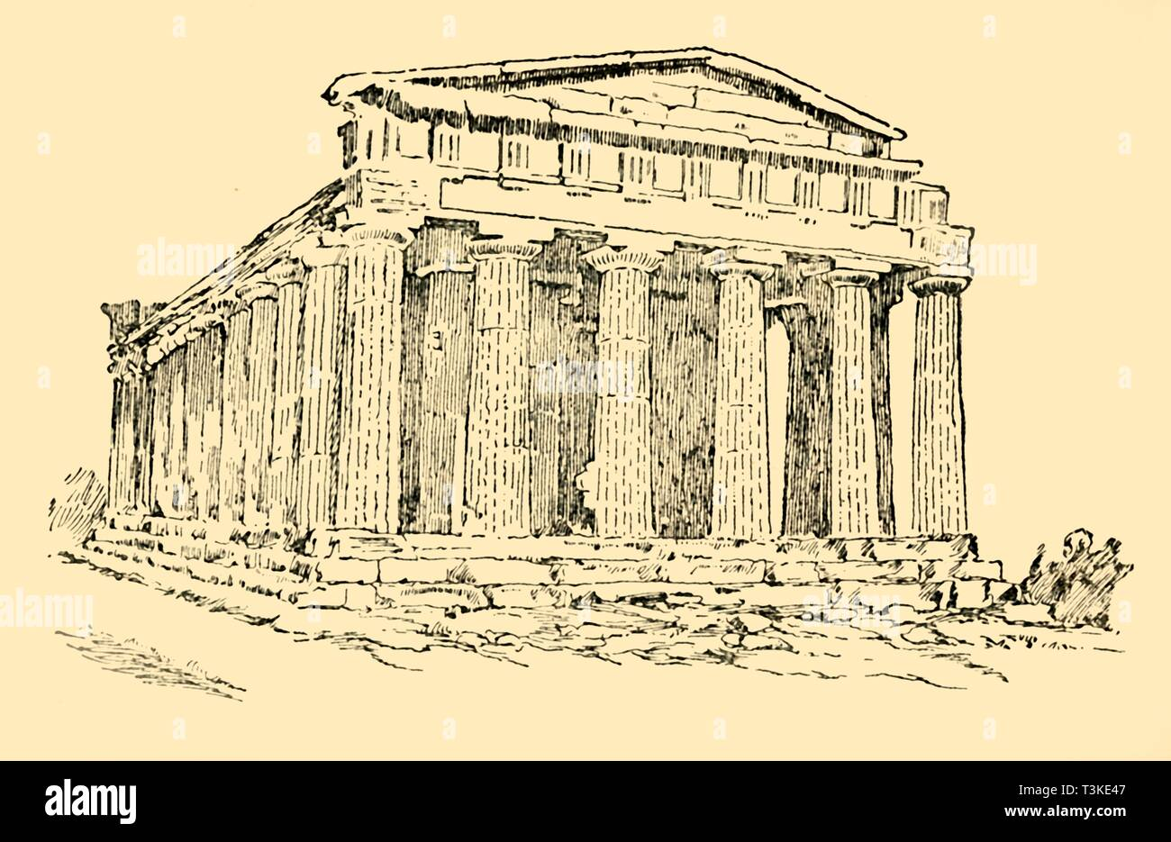 'The Temple of the Greek Colony at Agrigentum in Sicily', c1930. Creator: Unknown. - Stock Image
