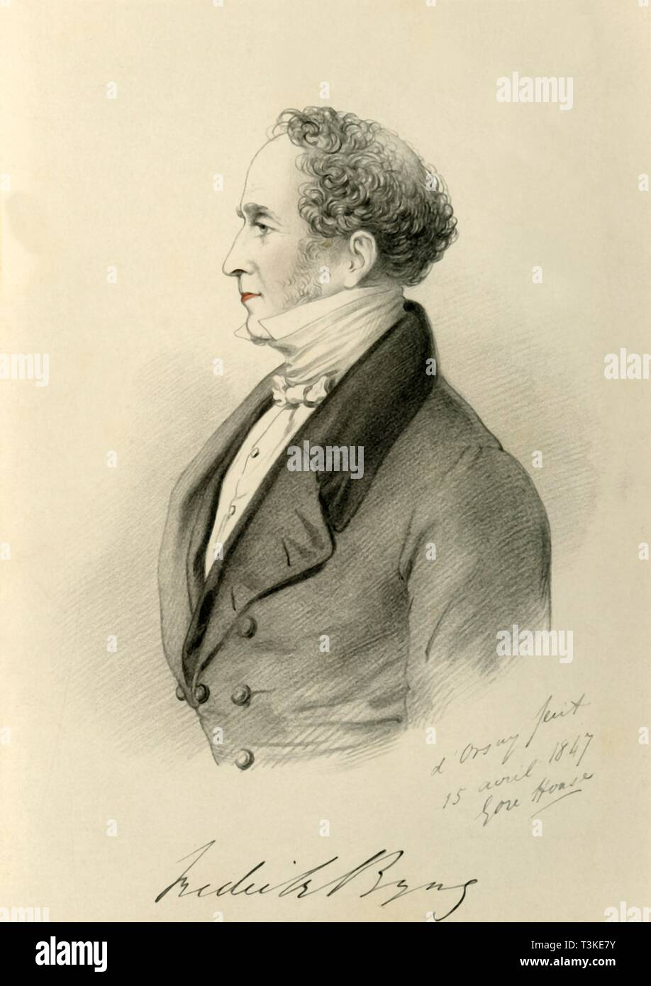 'Frederick Byng', 1847. Creators: Alfred d'Orsay, Richard James Lane. - Stock Image