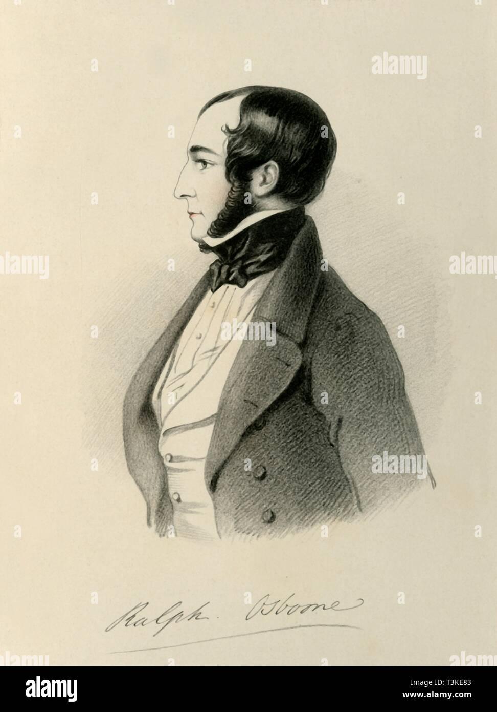 'Ralph Osborne', 1846. Creator: Richard James Lane. - Stock Image