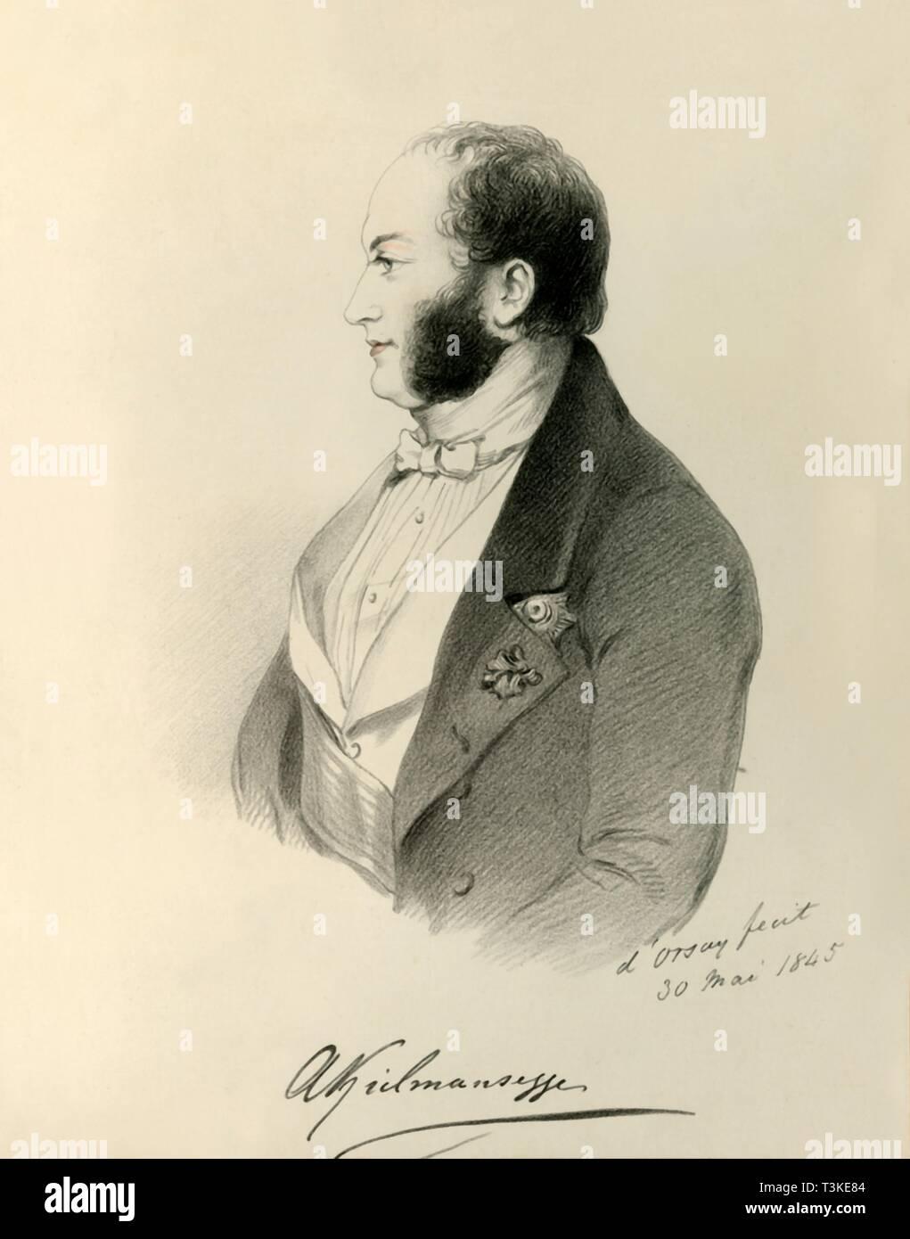 'Count Kielmansegg', 1845. Creator: Richard James Lane. - Stock Image