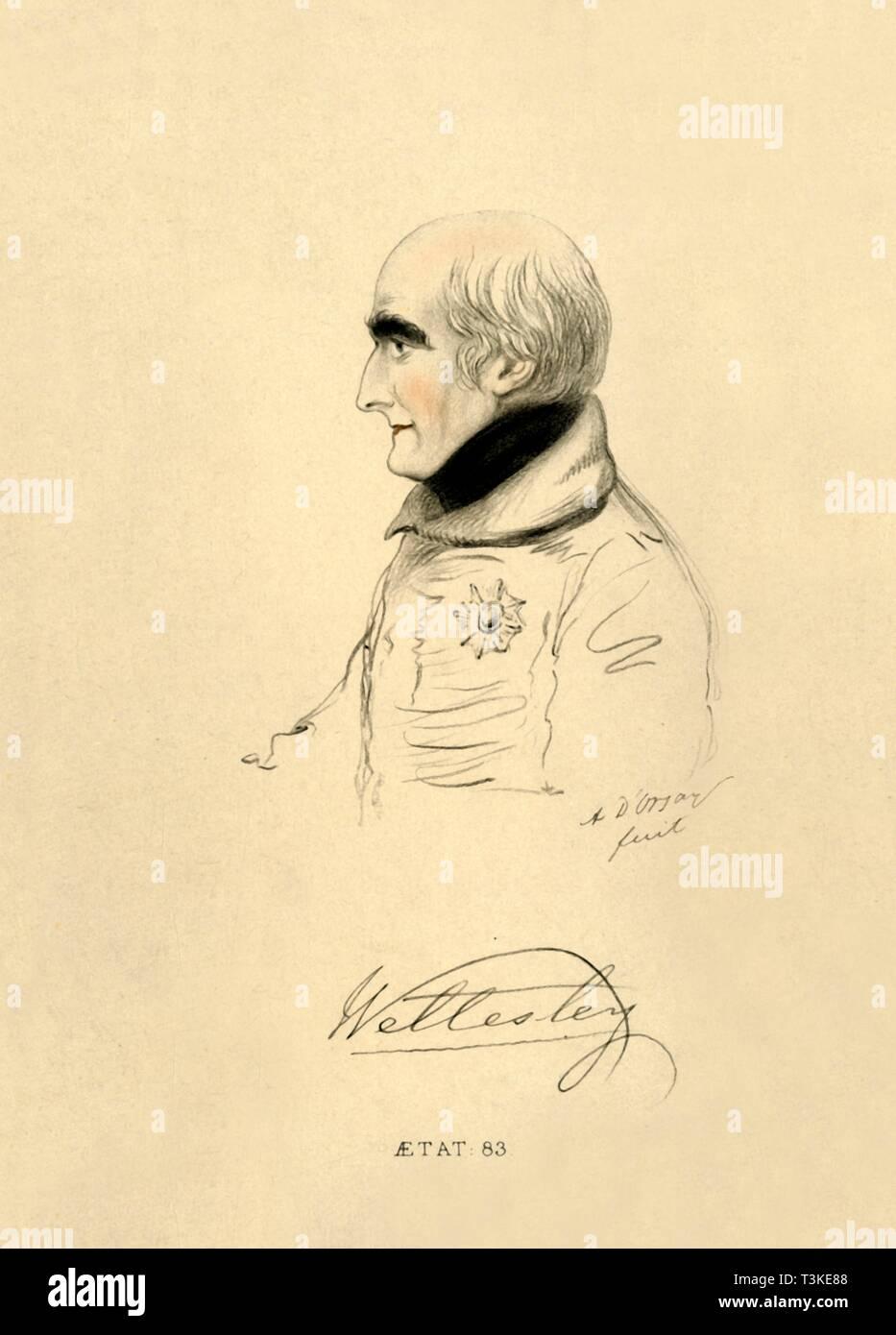 'The Marquis of Wellesley', 1833. Creator: Richard James Lane. - Stock Image
