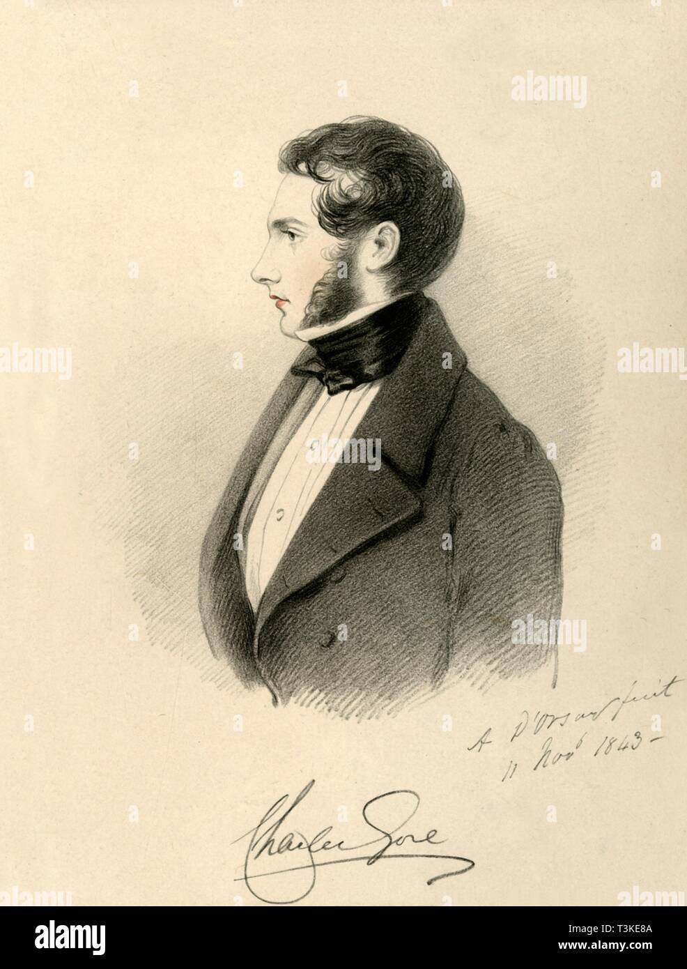 'The Hon. Charles Gore', 1843. Creator: Richard James Lane. - Stock Image