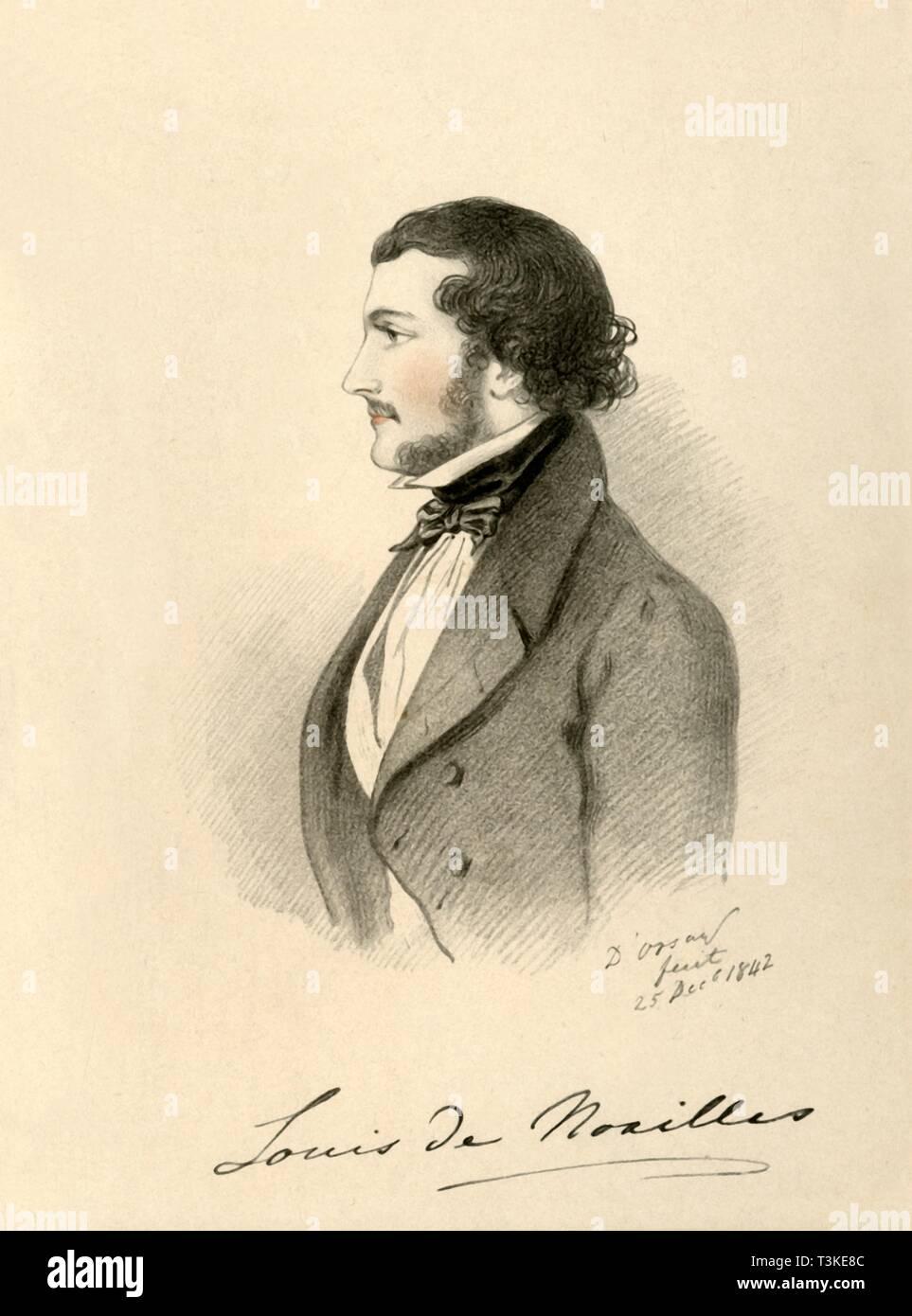 'Louis de Noailles', 1842. ???? Creator: Alfred d'Orsay. - Stock Image