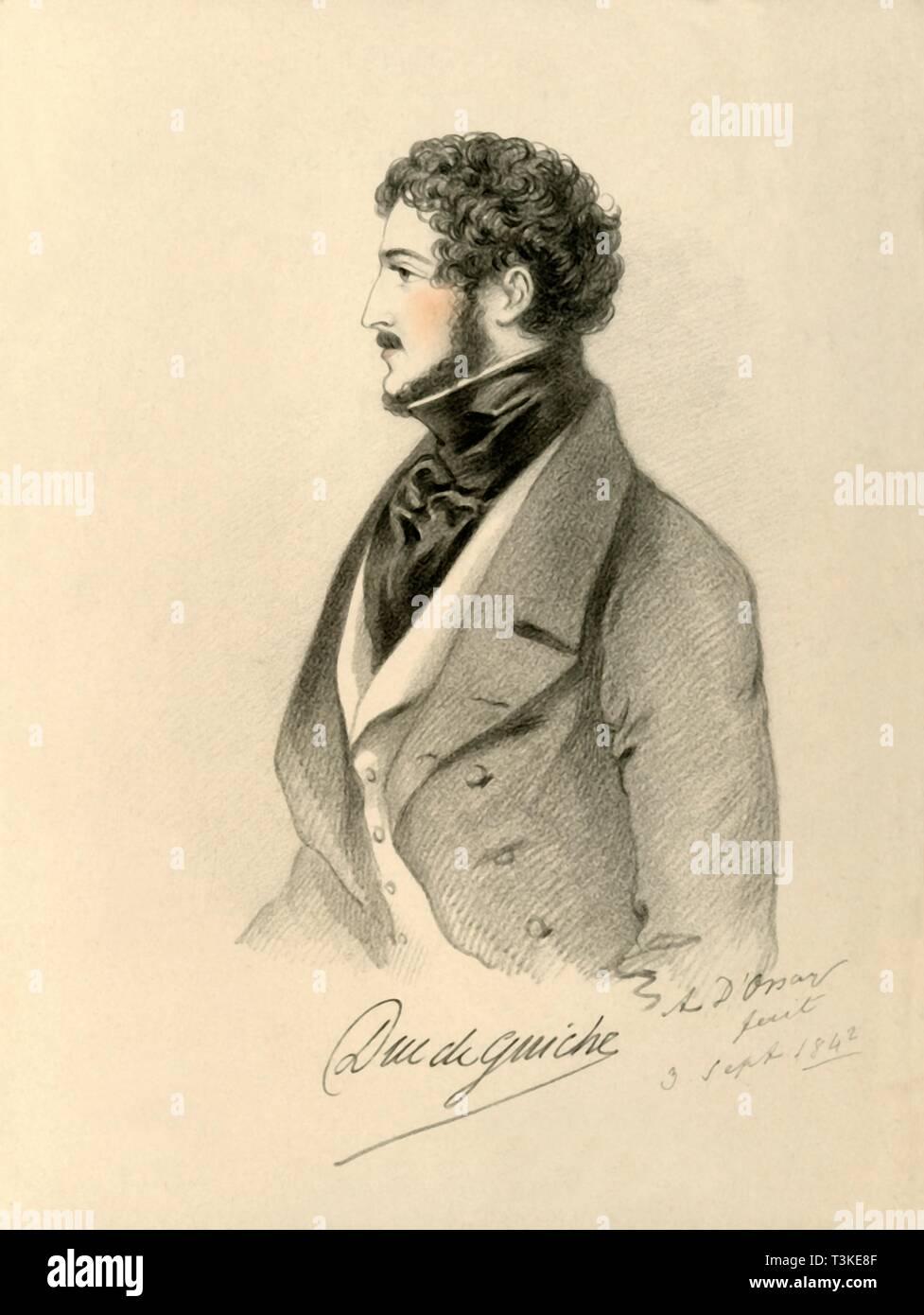 'Duc de Guiche', 1842. Creator: Richard James Lane. - Stock Image