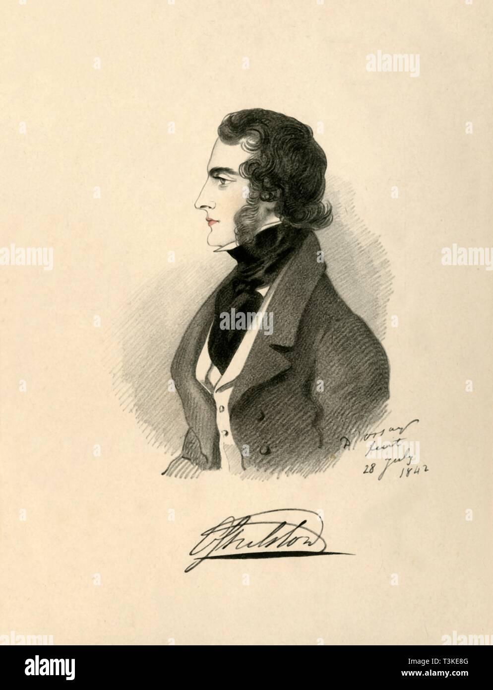 'Viscount Ossulton', 1842. Creator: Richard James Lane. - Stock Image