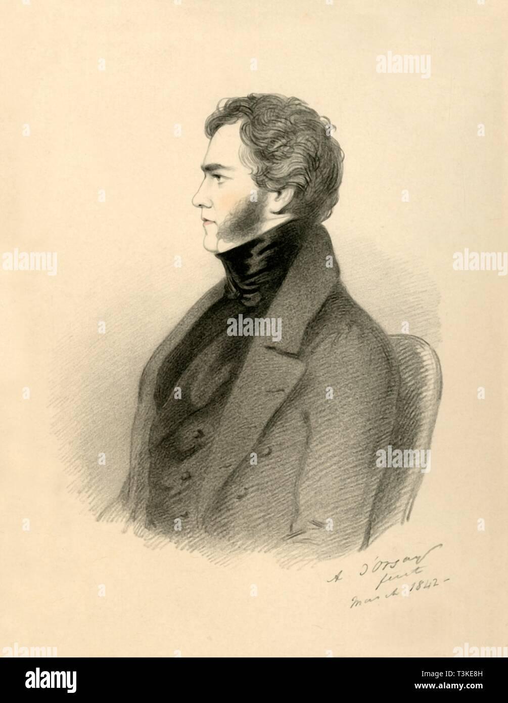 'Admiral Rous', 1842. Creator: Richard James Lane. - Stock Image