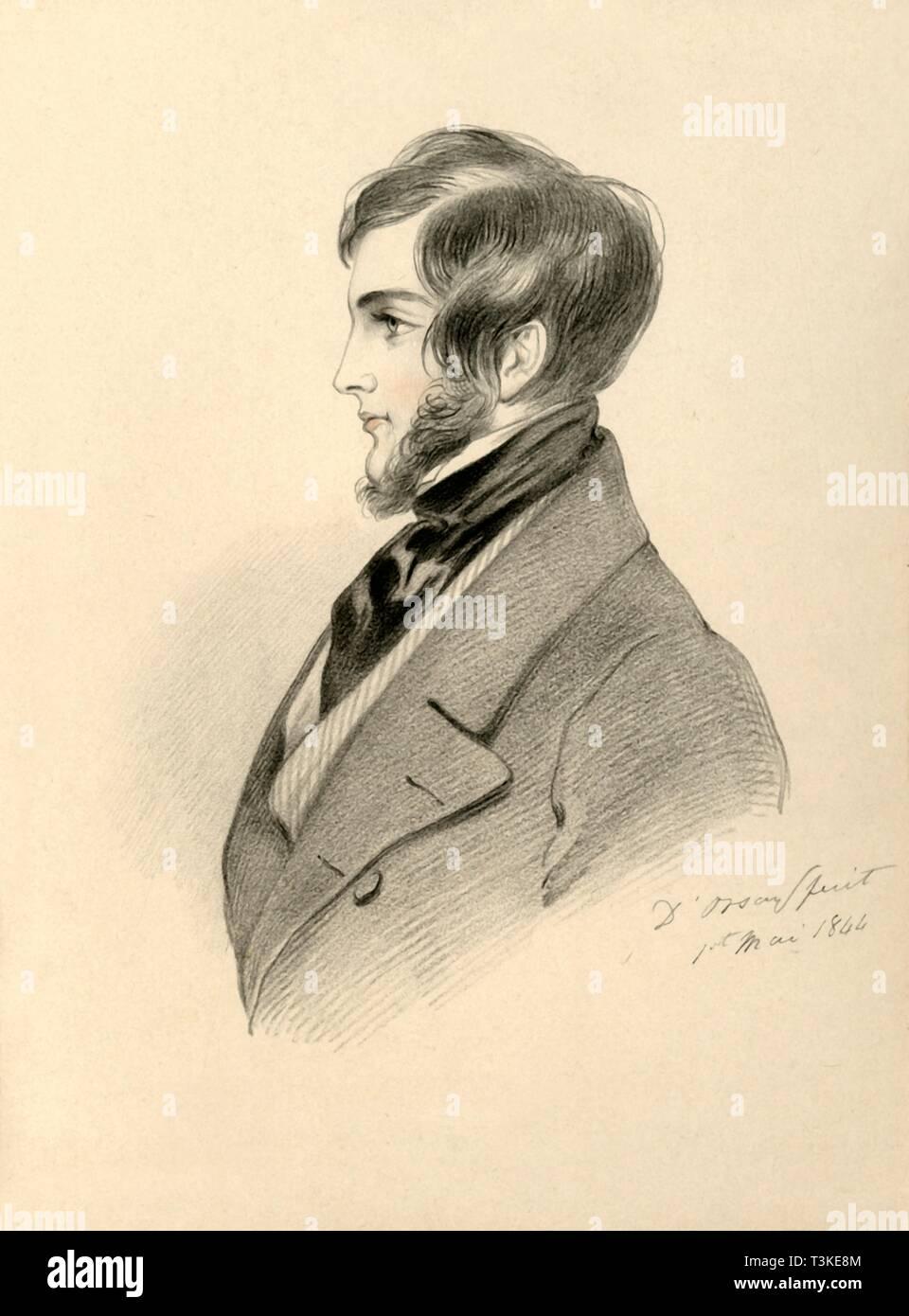 'Frank Sheridan', 1844. Creator: Richard James Lane. - Stock Image