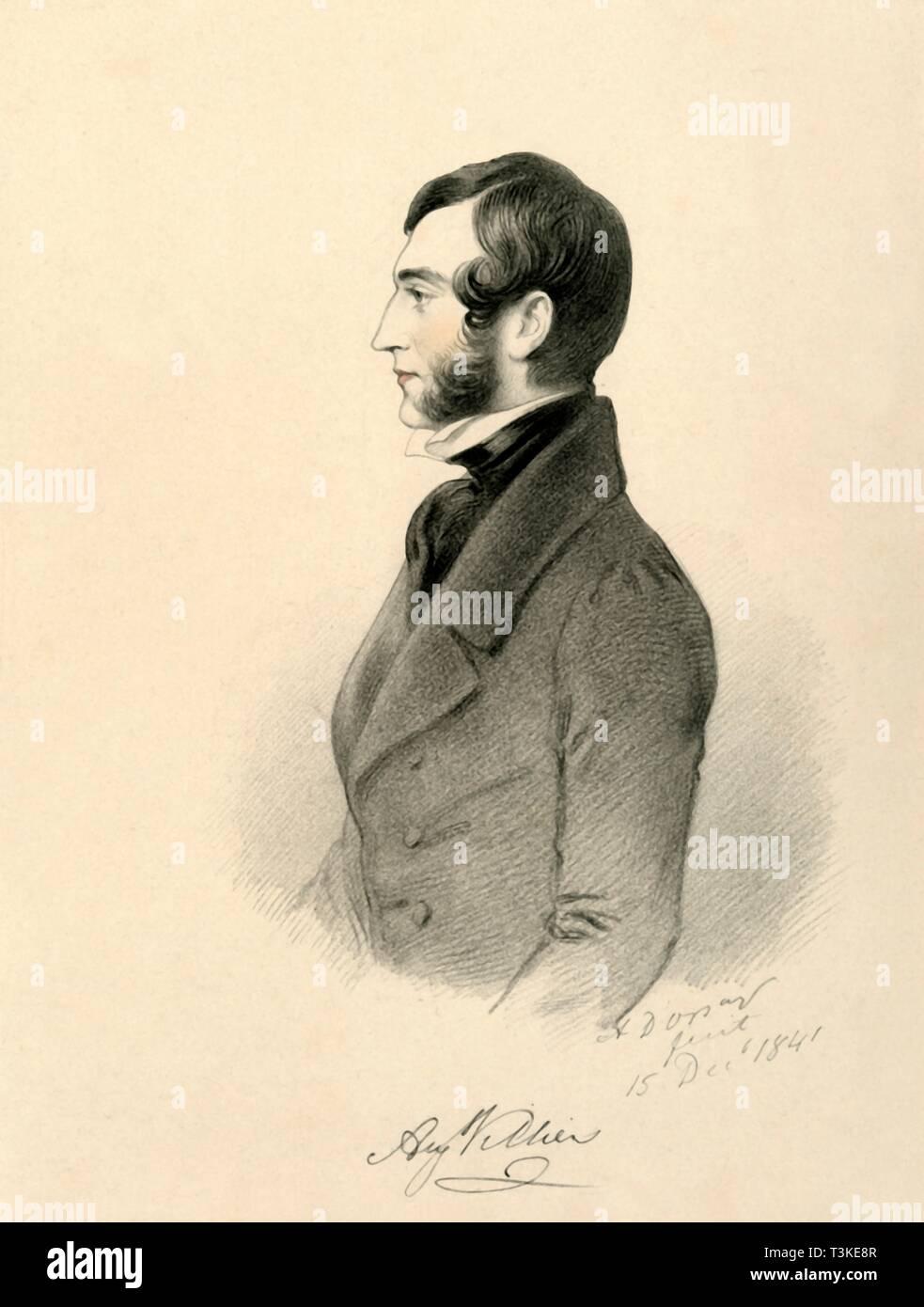 'Augustus Villiers', 1841. Creator: Richard James Lane. - Stock Image