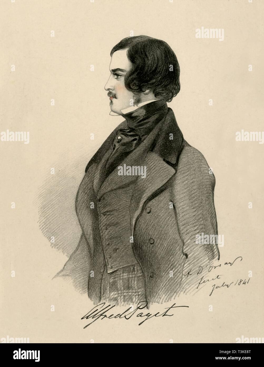 'Alfred Paget', 1841. Creator: Richard James Lane. - Stock Image