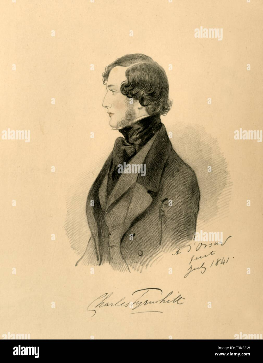 'Charles Tyrwhitt', 1841. Creator: Richard James Lane. - Stock Image