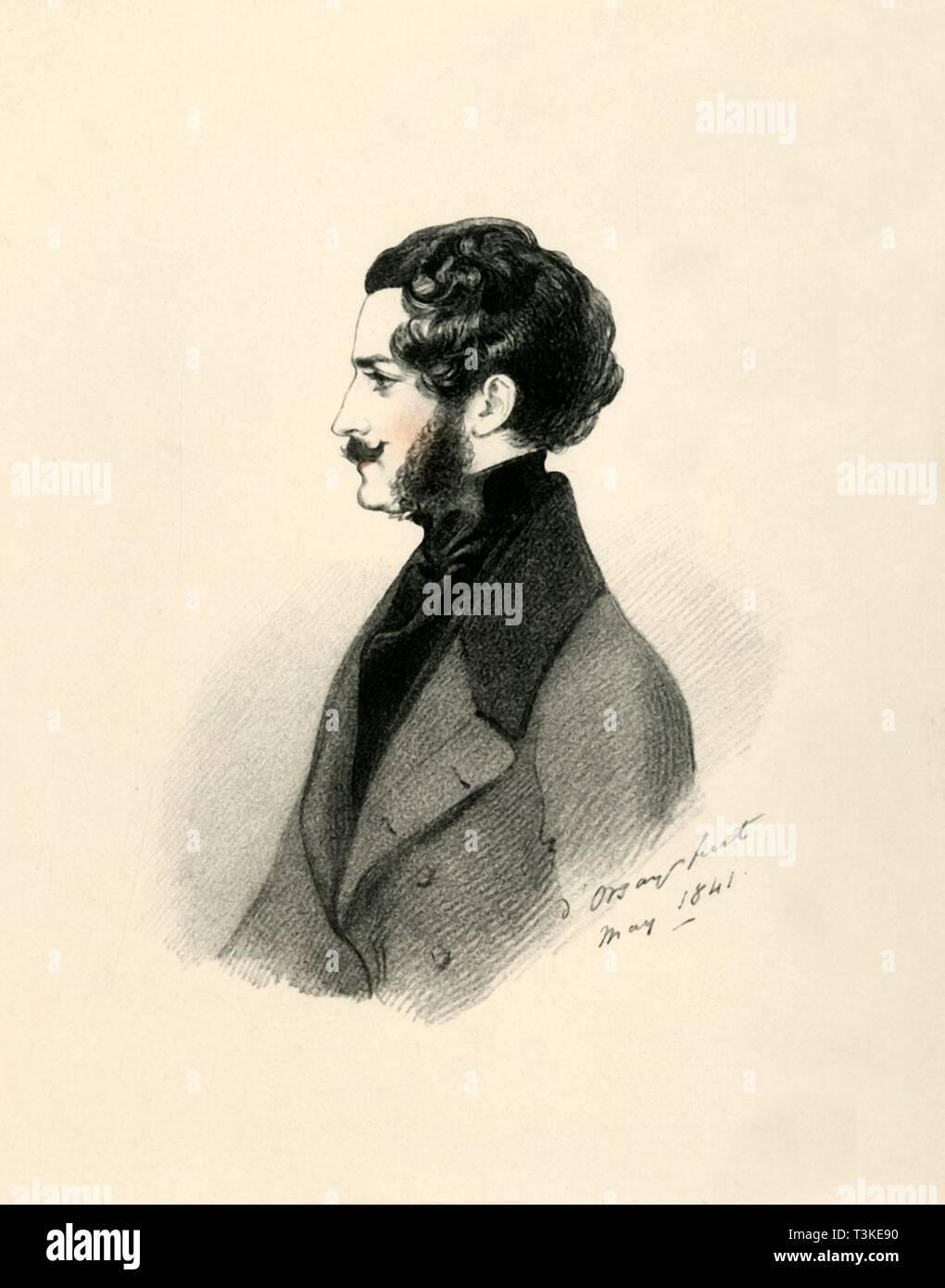 'Edmund St John Mildmay', 1841. Creator: Richard James Lane. - Stock Image