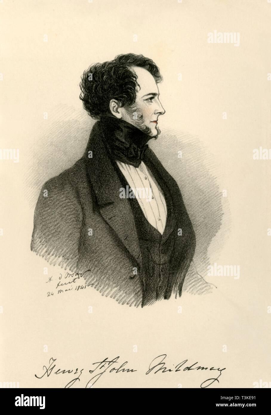 'Sir Henry St. John Mildmay', 1841. Creator: Richard James Lane. - Stock Image