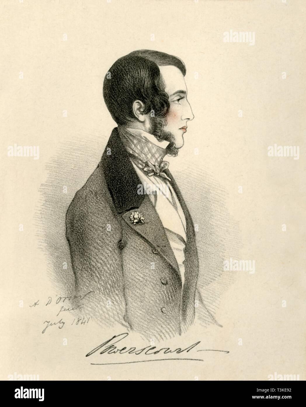 'Viscount Powerscourt', 1841. Creator: Richard James Lane. - Stock Image