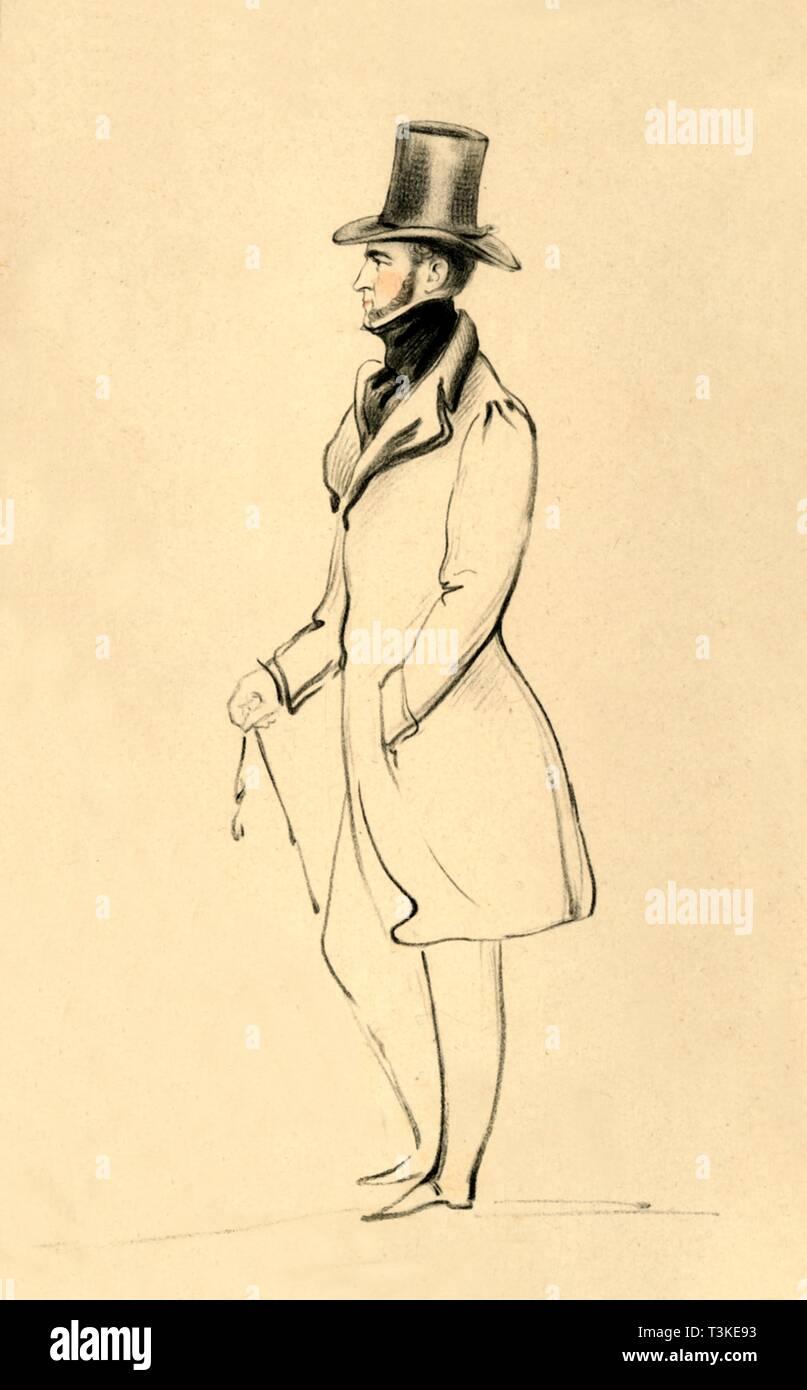 'A Pembrokeshire Man - The Earl of Pembroke', c1841. Creator: Richard James Lane. - Stock Image