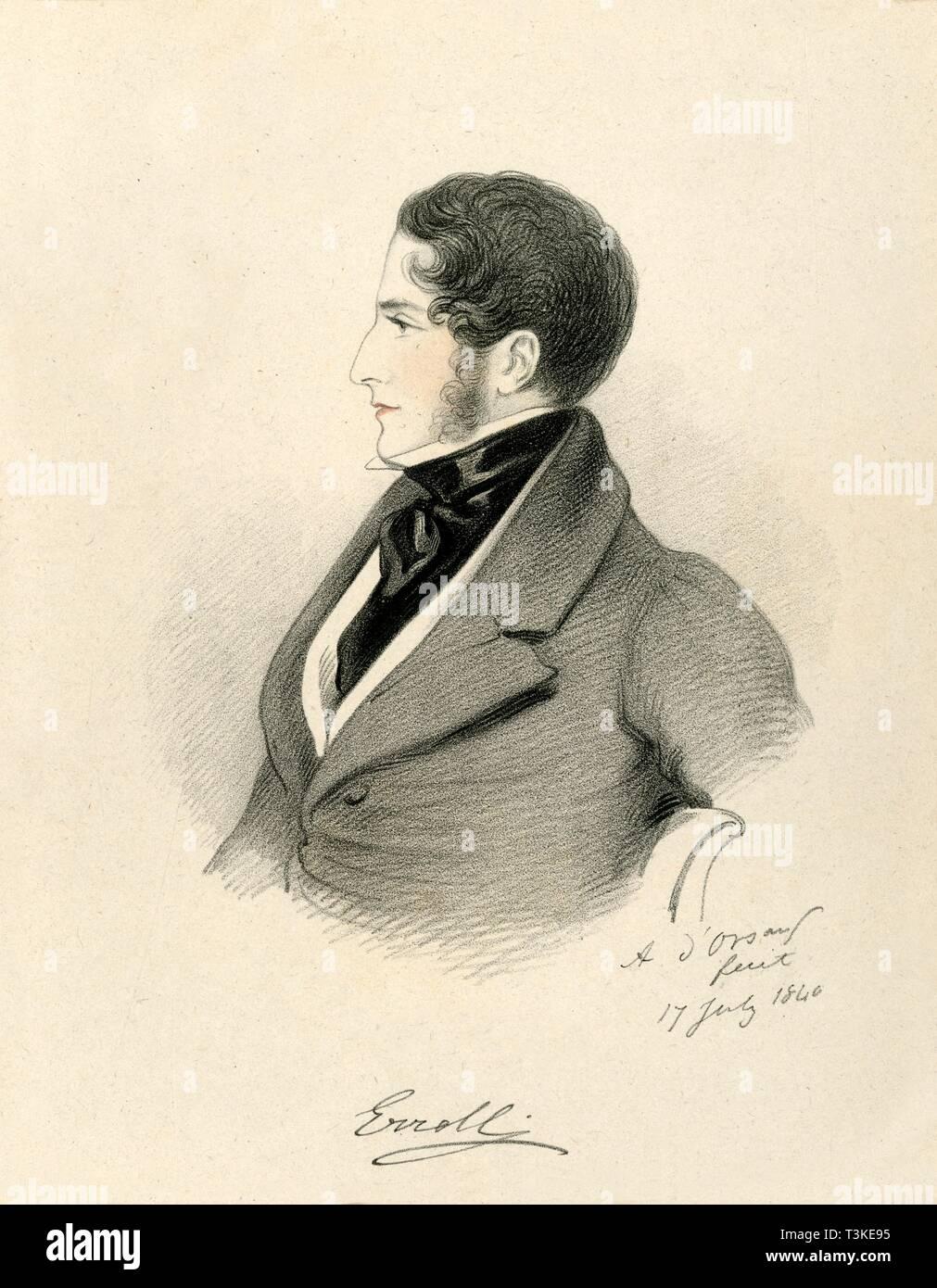 'The Earl of Erroll', 1840. Creator: Richard James Lane. - Stock Image