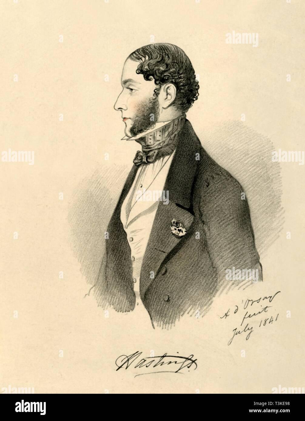 'The Marquis of Hastings', 1841. Creator: Richard James Lane. - Stock Image