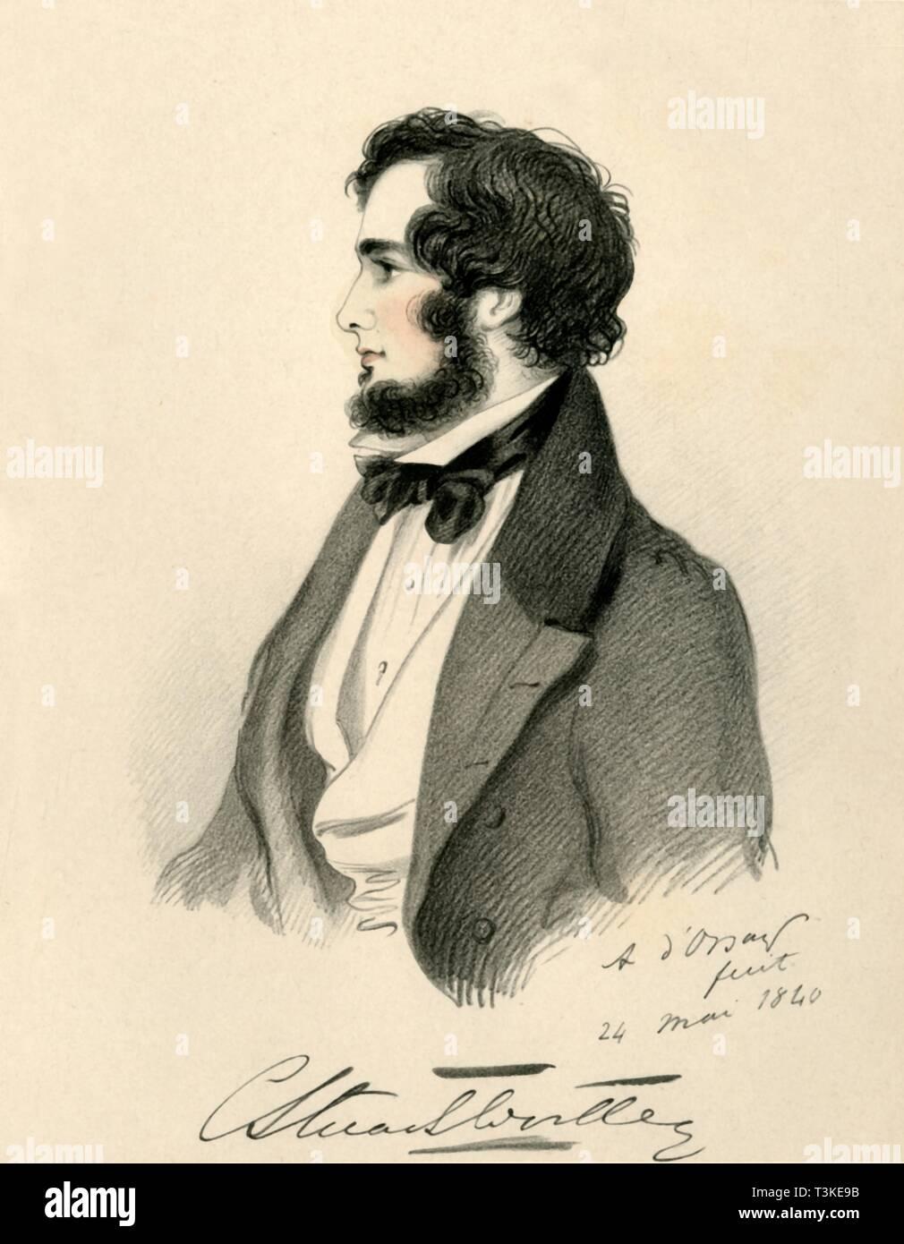 'Charles Stuart Wortley', 1840. Creator: Richard James Lane. - Stock Image