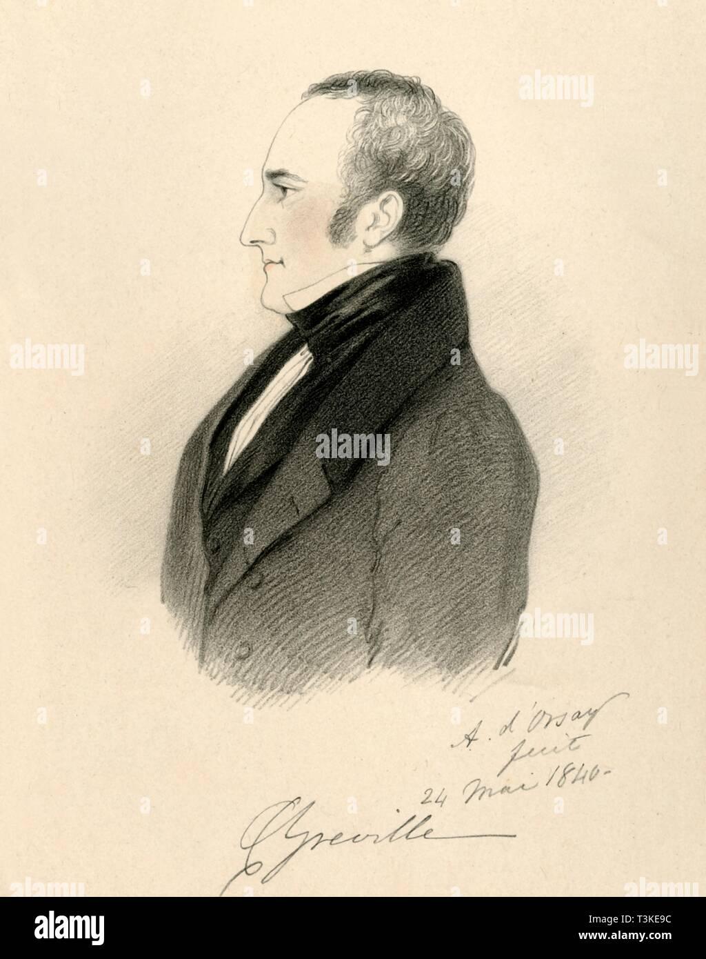 'Charles Greville', 1840. Creator: Richard James Lane. - Stock Image