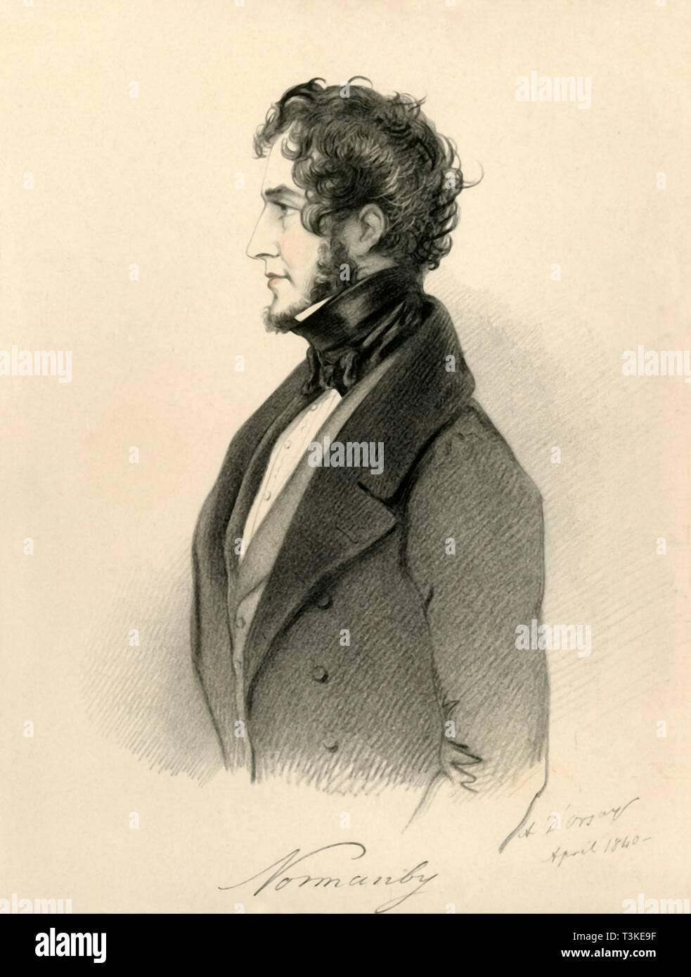 'Normanby', 1840. Creator: Richard James Lane. - Stock Image